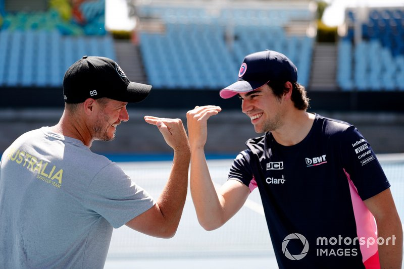 Lance Stroll, Racing Point con Lleyton Hewitt