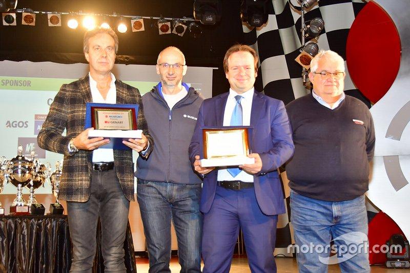 Premiazioni degli sponsor Genart e Ceva supporter dei Trofei Suzuki
