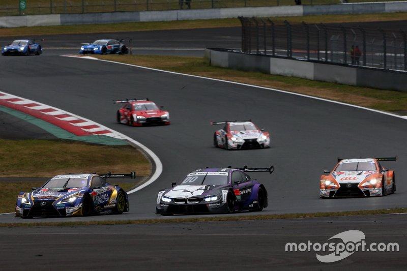 Yuji Kunimoto, Lexus Team Bandoh Lexus LC500, Kamui Kobayashi, BMW Team RBM BMW M4 DTM, Kazuki Nakajima, Lexus Team TOM'S Lexus LC500