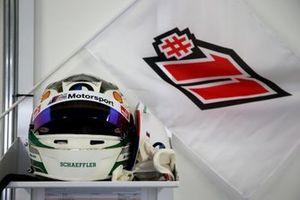 Helmet of Marco Wittmann, BMW Team RBM BMW M4 DTM