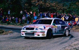 Luís Climent, Álex Romaní, Skoda al Rally Monte Carlo del 2000