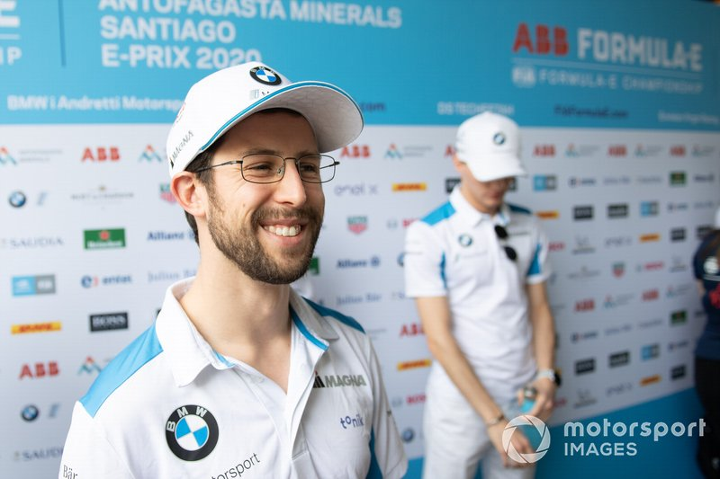 Alexander Sims, BMW I Andretti Motorsports talks to the press