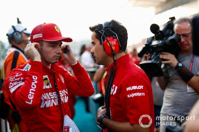 Charles Leclerc, Ferrari, sulla griglia