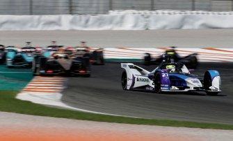 Alexander Sims, BMW I Andretti Motorsports, BMW iFE.20 leadsAntonio Felix da Costa, DS Techeetah, DS E-Tense FE20, Mitch Evans, Panasonic Jaguar Racing, Jaguar I-Type 4