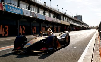Antonio Felix da Costa, DS Techeetah, DS E-Tense FE20 exits the pit lane