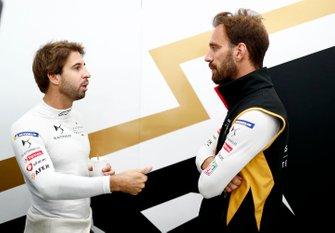 Antonio Felix da Costa, DS Techeetah chats with teammate Jean-Eric Vergne, DS TECHEETAH in the garage