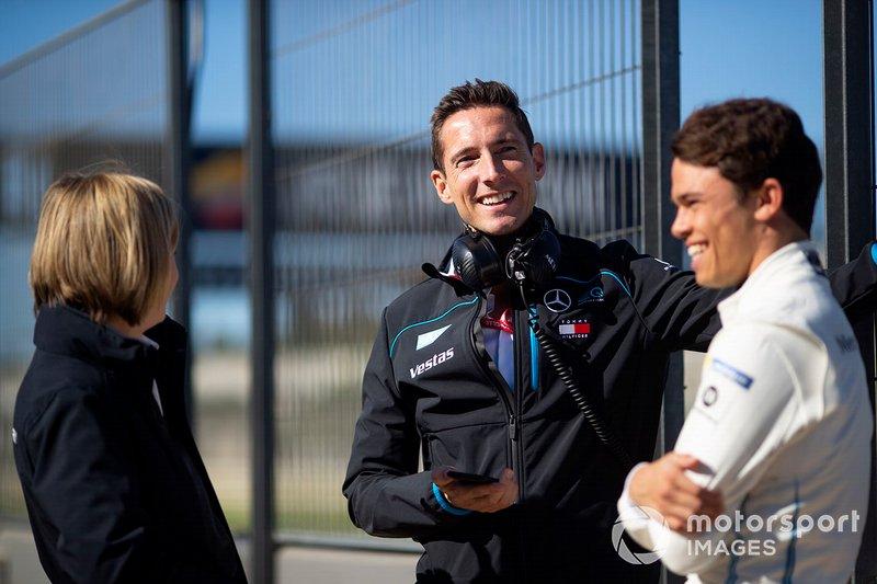 Ian James, Team Principal, Mercedes Benz EQ with Nyck de Vries, Mercedes Benz EQ