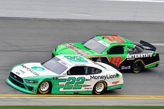 Austin Cindric, Team Penske, Ford Mustang MoneyLion and Brandon Jones, Joe Gibbs Racing, Toyota Supra Interstate Batteries