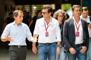 Alberto Longo, CEO of Formula E with VIP guests