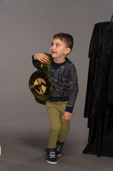 Brexton Busch with WWE 24/7 championship