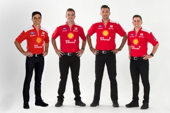 Tim Slade, Scott McLaughlin, Fabian Coulthard, Tony D'Alberto, DJR Team Penske