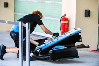 Williams-monteur maakt de neus schoon