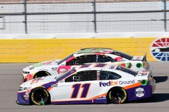 Denny Hamlin, Joe Gibbs Racing, Toyota Camry FedEx Ground, Ryan Preece, JTG Daugherty Racing, Chevrolet Camaro Natural Light Seltzer