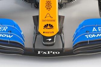 McLaren MCL35, dettaglio muso