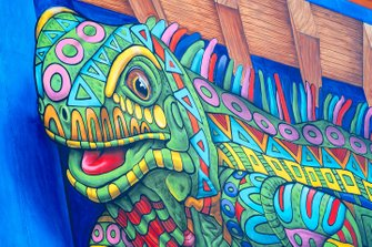 Algunas obras de arte de un camaleón