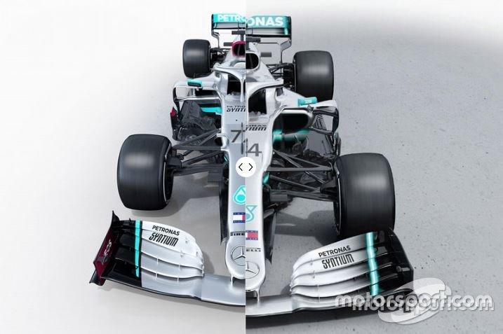 Mercedes F1 W11 vs. Mercedes W10