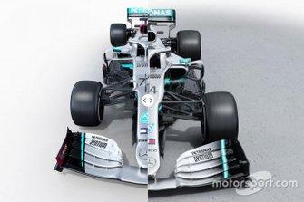 Mercedes W11 vs. Mercedes W10
