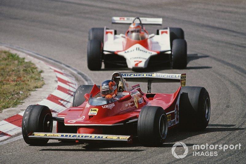 Zandvoort 1980: Gilles Villeneuve met achter zich, John Watson