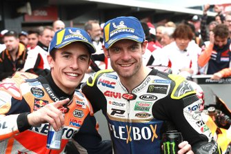 Race winner Marc Marquez, Repsol Honda Team, second place Cal Crutchlow, Team LCR Honda