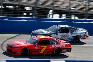 Justin Allgaier, JR Motorsports, Chevrolet Camaro BRANDT Ryan Sieg, RSS Racing, Chevrolet Camaro CMR Roofing