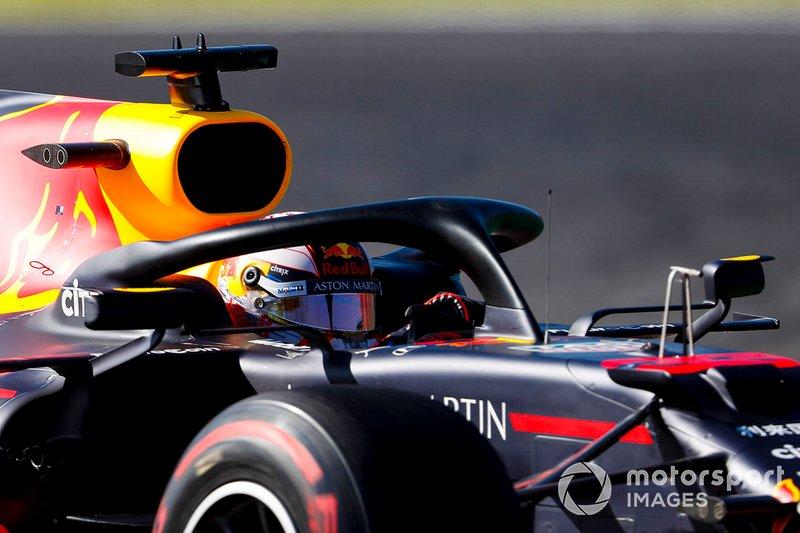 Max Verstappen – volta 1 (batida entre Leclerc x Verstappen)