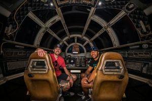 Ryan Blaney and Bubba Wallace at Star Wars Galaxy's Edge at Walt Disney World