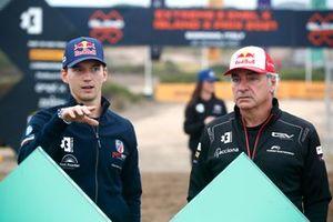 Timmy Hansen, Andretti United Extreme E Carlos Sainz, Sainz XE Team en el sorteo de la parrilla