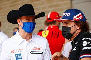 Mick Schumacher, Haas e Fernando Alonso, Alpine