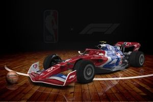 F1 with a livery for the NBA's 75th Anniversary season