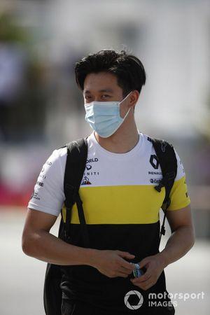 Guanyu Zhou, Renault Sport Academy driver, arrives