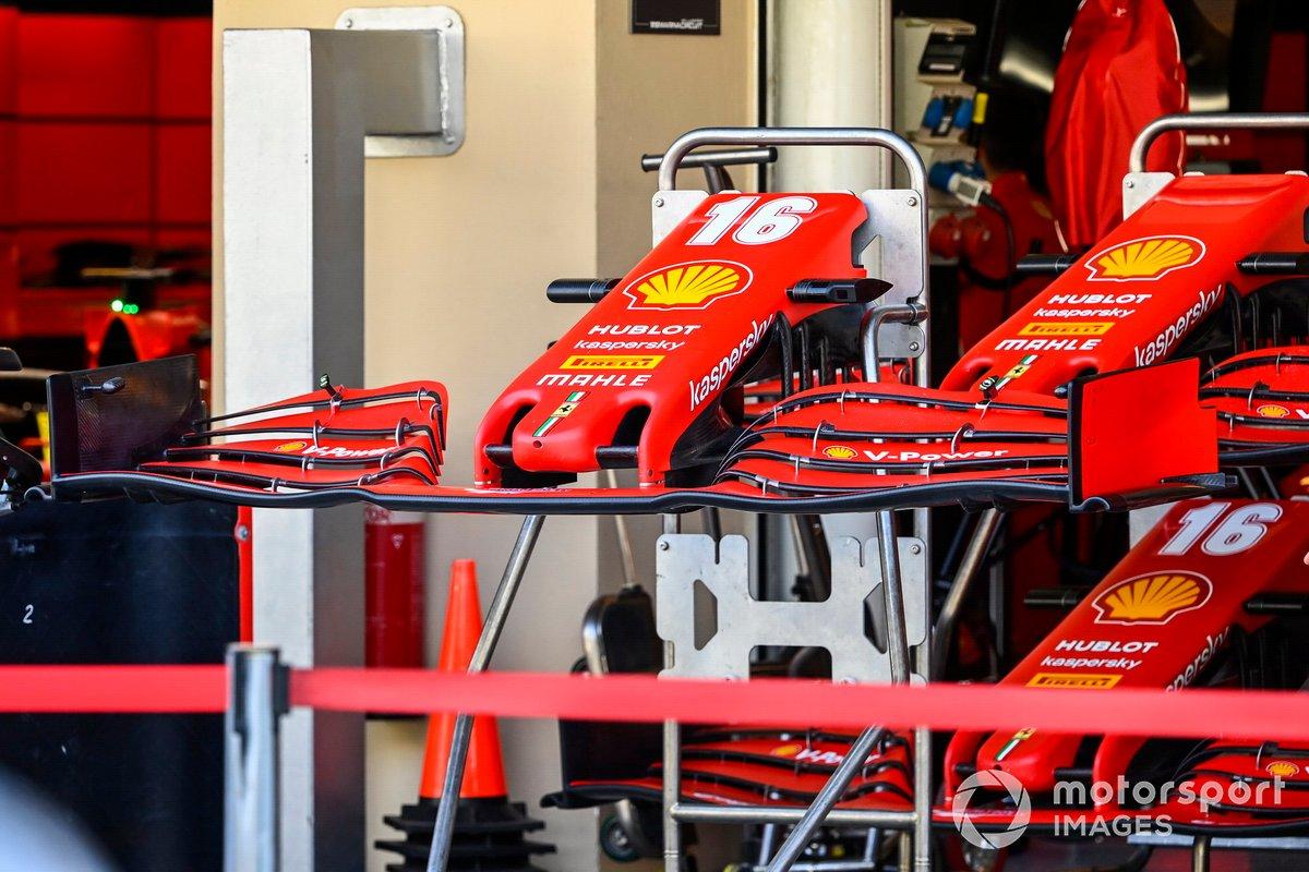 Alerones delanteros del monoplaza de Charles Leclerc, Ferrari SF1000