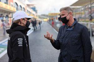 Valtteri Bottas, Mercedes-AMG F1, talks to Presenter David Coulthard.