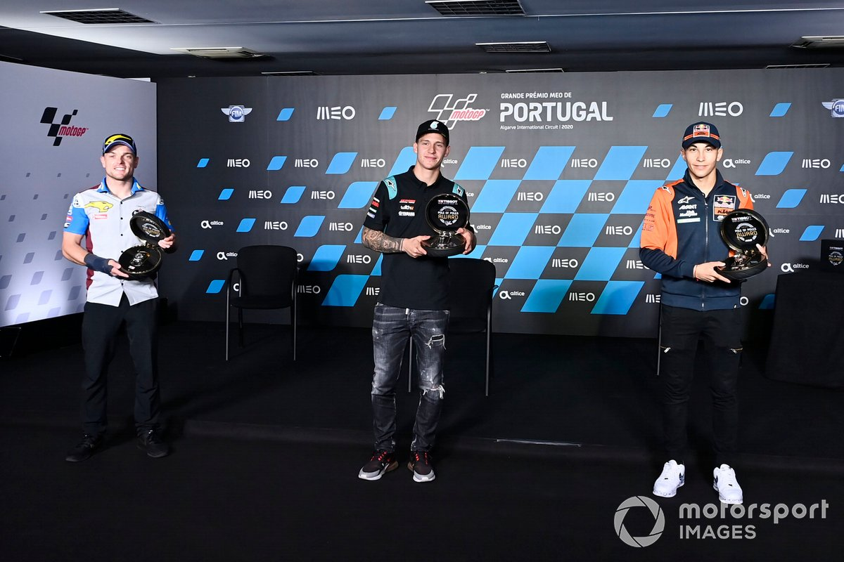 Sam Lowes, Marc VDS Racing, Fabio Quartararo, Petronas Yamaha SRT, Raúl Fernandez, Red Bull KTM Ajo