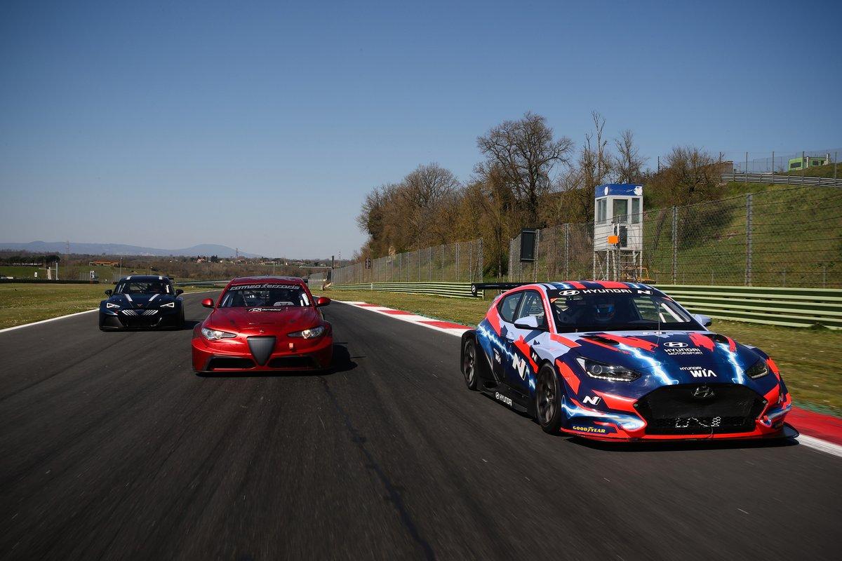Cupra eRacer, Alfa Romeo Giulia ETCR, Hyundai Veloster N ETCR