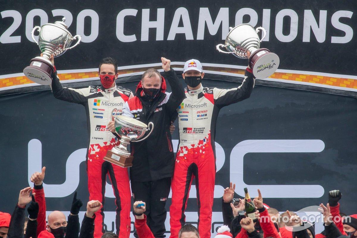 Podio: Sébastien Ogier, Julien Ingrassia, Toyota Gazoo Racing WRT Toyota Yaris WRC, Tommi Makinen, Toyota Gazoo Racing