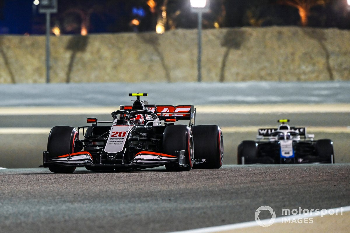 Kevin Magnussen, Haas VF-20, Nicholas Latifi, Williams FW43
