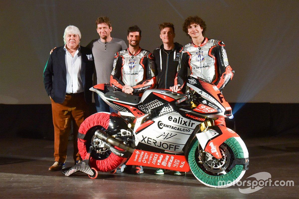 Simone Corsi, Lorenzo Baldassarri, Tommaso Marcon, MV Agusta Forward Racing
