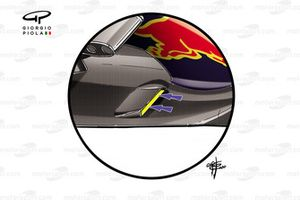 Red Bull Racing RB16 cape slots