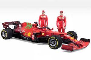 Charles Leclerc, Carlos Sainz Jr., Ferrari SF21