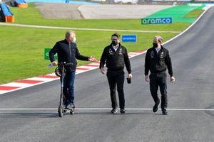 Johnny Herbert, Sky TV met Andrew Shovlin, Chief Race Engineer, Mercedes AMG