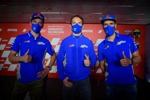 Joan Mir, Team Suzuki MotoGP, Sylvain Guintloli, Team Suzuki MotoGP, Alex Rins, Team Suzuki MotoGP