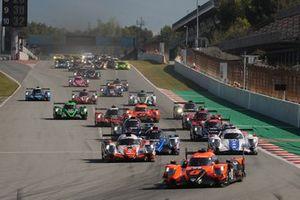 Start action, #26 G-Drive Racing Aurus 01 - Gibson: Roman Rusinov, Franco Colapinto, Nyck De Vries leads