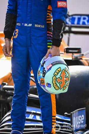 El casco de Daniel Ricciardo, McLaren