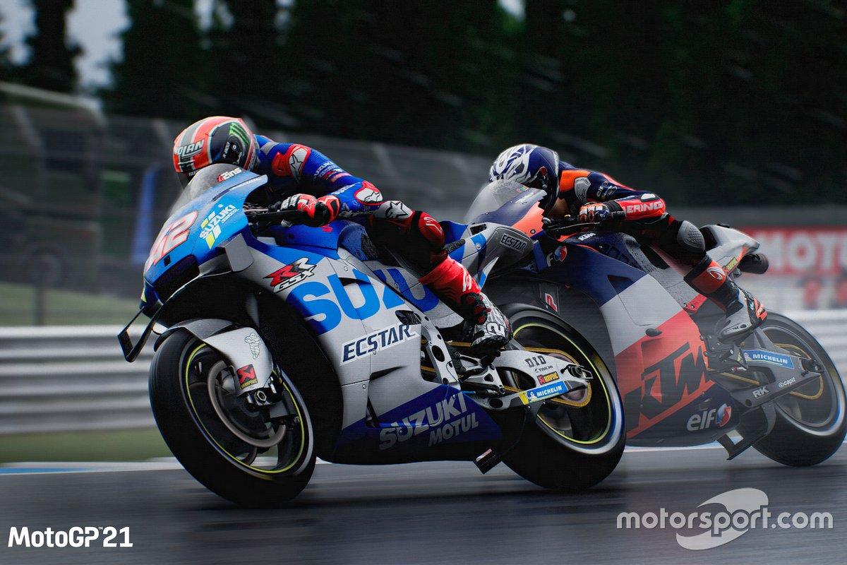 Captura de pantalla de MotoGP21