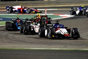 David Beckmann, Charouz Racing System, leads Theo Pourchaire, ART Grand Prix, and Marcus Armstrong, Dams