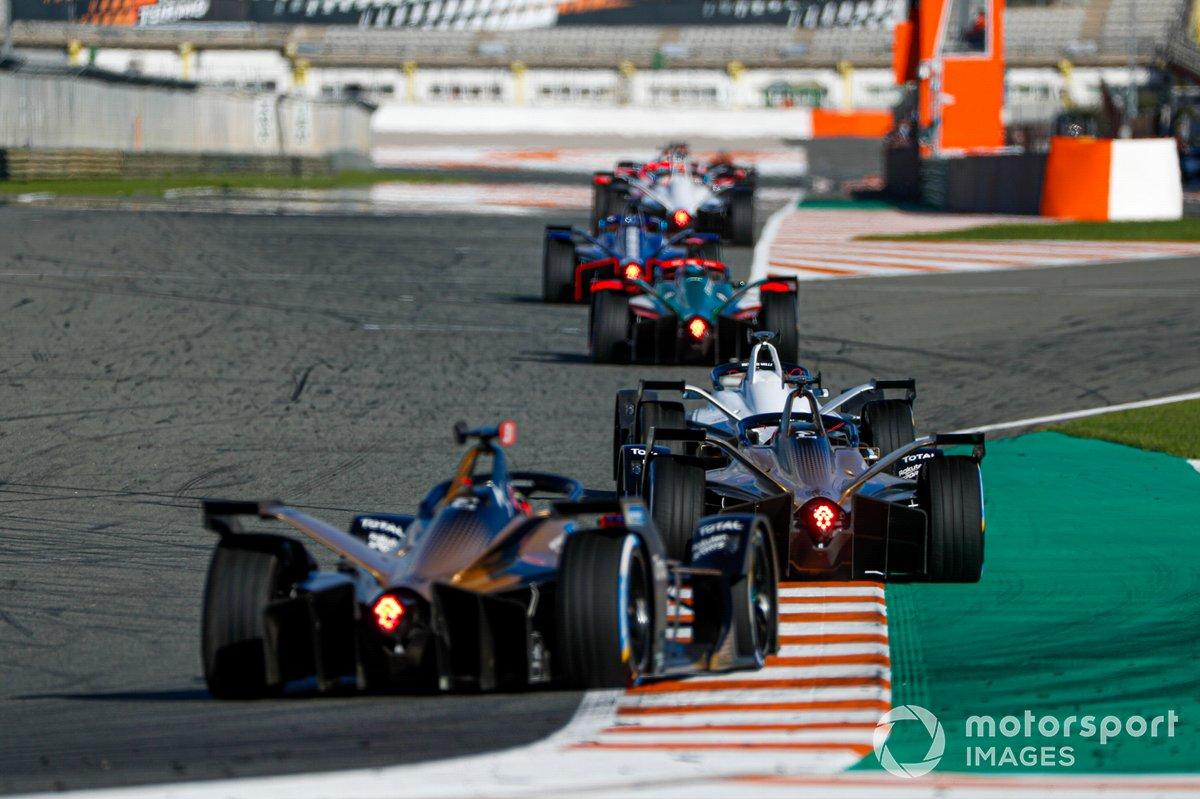 Edoardo Mortara, Venturi, Silver Arrow 02, Antonio Felix da Costa, DS Techeetah, DS E-Tense FE20, Jean-Eric Vergne, DS Techeetah, DS E-Tense FE20