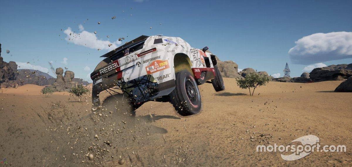 Imagen de la versión Pre-Alpha del nuevo videojuego del Dakar