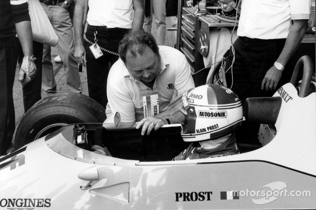 Jean Graton con Alain Prost, Renault