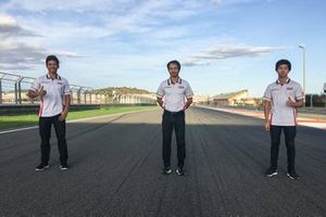 Somkiat Chantra, Hiroshi Aoyama, Ai Ogura, Honda Team Asia