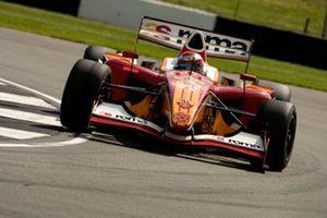 Enrico Toccacelo en el coche de la AS Roma, Superleague Formula